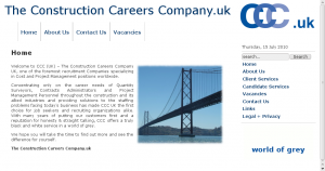 The Construction Careers Company Ltd screengrab
