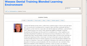Moodle site for Wessex Dental Training Ltd screengrab