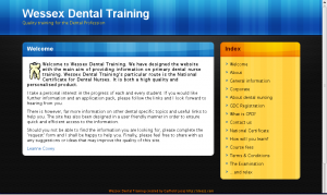 Wessex Dental Training Ltd screengrab